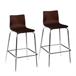 Bowery Hill Bar Stool in Espresso (Set of 2)