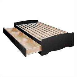 Bowery Hill Platform Storage Bed with Drawers in Black-20161122