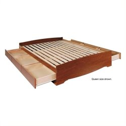 Bowery Hill Platform Storage Bed in Cherry-20161122