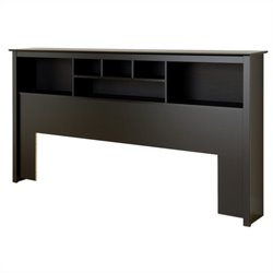 Bowery Hill Bookcase Headboard in Black-20161122