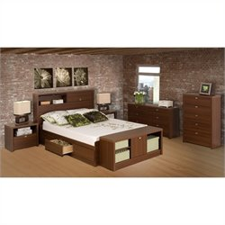 Bowery Hill 2 Piece Bedroom Set in Medium Brown Walnut-20161122