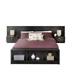 Bowery Hill Platform Storage Bed with Floating Headboard 1-20161122