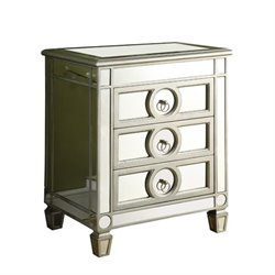 Bowery Hill 3 Drawer Mirrored Accent Chest