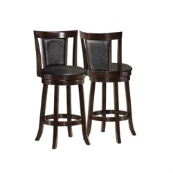 MER-1186 Bowery Hill Stool in Black and Cappuccino (Set of 2)