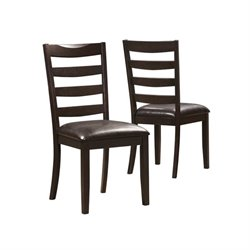 Bowery Hill Ladderback Dining Side Chair in Cappuccino (Set of 2)