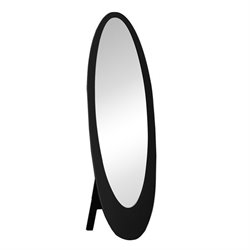 Bowery Hill Oval Cheval Mirror in Black