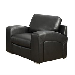 Bowery Hill Leather Chair in Black