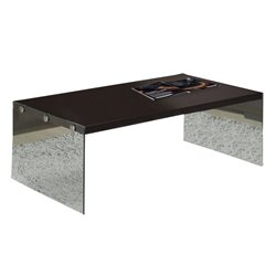 MER-1186 Bowery Hill Tempered Glass Coffee Table