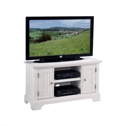 Bowery Hill Wood TV Stand Cabinet in Multi Step White