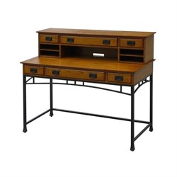 MER-1185 Bowery Hill Computer Desk in Deep Brown