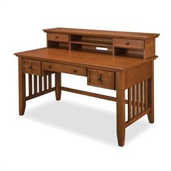 Bowery Hill Computer Desk with Hutch in Cottage Oak
