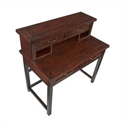 Bowery Hill Computer Desk with Hutch in Chestnut