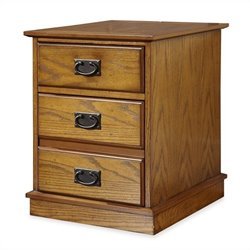 Bowery Hill Mobile File Cabinet in Distressed Oak