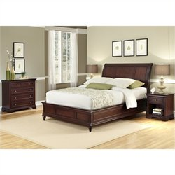 MER-1185 Bowery Hill 3 Piece Sleigh Bed Set 2