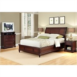 MER-1185 Bowery Hill 3 Piece Sleigh Bed Set