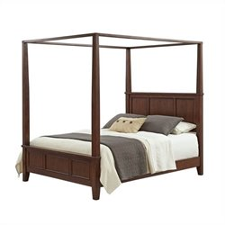 Bowery Hill King Canopy Bed in Classic Cherry