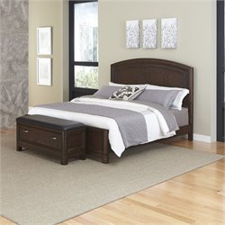 MER-1185 Home Styles Crescent Hill Panel Bed with Upholstered Bench 33