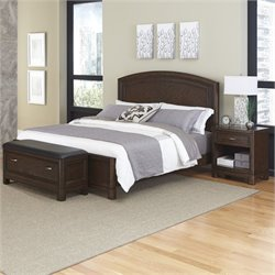 MER-1185 Home Styles Crescent Hill 3 Piece Panel Bedroom Set 34