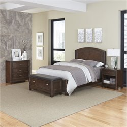 MER-1185 Home Styles Crescent Hill 4 Piece Panel Bedroom Set 35