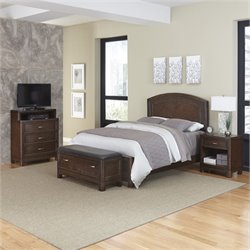 MER-1185 Home Styles Crescent Hill 4 Piece Panel Bedroom Set 36