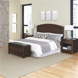 MER-1185 Home Styles Crescent Hill 4 Piece Panel Bedroom Set 37