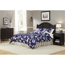 Bowery Hill Queen Headboard Bedroom Set in Espresso