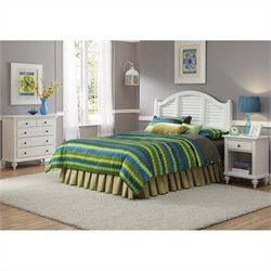 MER-1185 Bowery Hill 3 Piece Bedroom Set in White