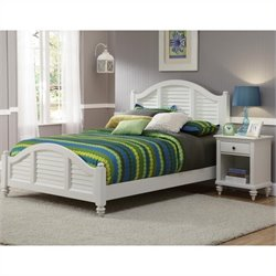 MER-1185 Bowery Hill 2 Piece Bedroom Set in White