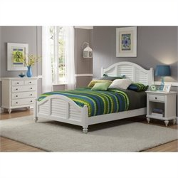 MER-1185 Bowery Hill 3 Piece Bedroom Set in White 2