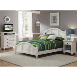 MER-1185 Bowery Hill 3 Piece Bedroom Set in White 3