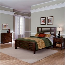 MER-1185 Bowery Hill 3 Piece Bedroom Set in Chestnut