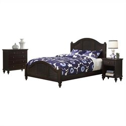 Bowery Hill 3 Piece King Bedroom Set in Espresso