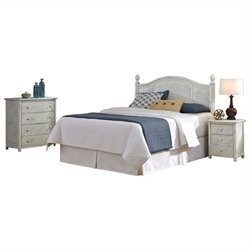 MER-1185 Bowery Hill Bedroom Set in Weather Worn Rubbed White