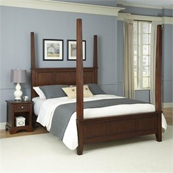 Bowery Hill King Poster Bed and Nightstand