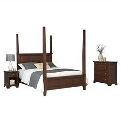 Bowery Hill King Poster Bed Nightstand and Chest