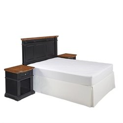 Bowery Hill 3 Piece King California King Headboard Bedroom Set