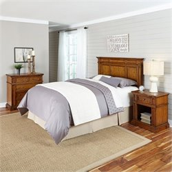 MER-1185 Home Styles Americana Headboard Bedroom Set in Oak 1