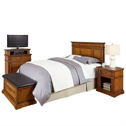 MER-1185 Home Styles Americana Headboard Bedroom Set in Oak Queen 2