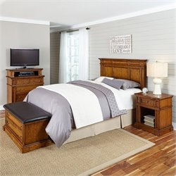 MER-1185 Home Styles Americana Headboard Bedroom Set in Oak 2