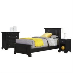 MER-1185 Bowery Hill 3 Piece Twin Bedroom Set