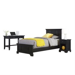 MER-1185 Home Styles Bedford Twin Bedroom Set in Black
