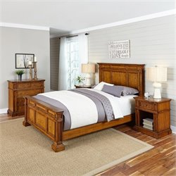 MER-1185 Home Styles Americana King Bedroom Set in Oak 2