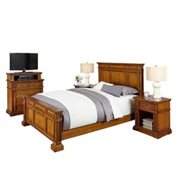 MER-1185 Home Styles Americana Queen Bedroom Set in Oak 1