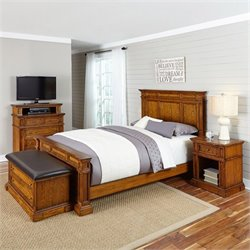 MER-1185 Home Styles Americana King Bedroom Set in Oak 3
