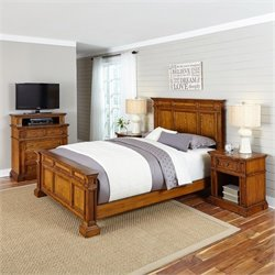 MER-1185 Home Styles Americana King Bedroom Set in Oak 1