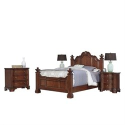 MER-1185 Home Styles Santiago Queen Bedroom Set in Cognac 2