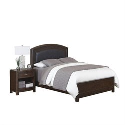 MER-1185 Bowery Hill 2 Piece Upholstered Bedroom Set