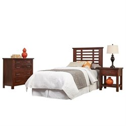 MER-1185 Bowery Hill Twin Headboard Bedroom Set in Chestnut