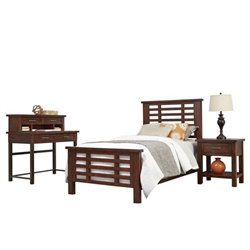 MER-1185 Bowery Hill Twin Bed Bedroom Set in Chestnut