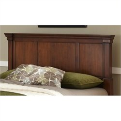 MER-1185 Bowery Hill Panel Headboard and Media Chest in Cherry